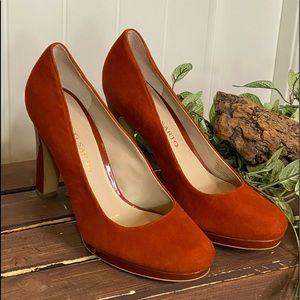 Beautiful Burnt Orange Suede Franco Sarto Heels
